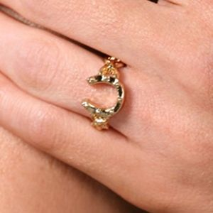 House of Harlow Horseshoe Stacking Ring in Gold